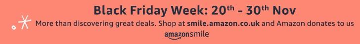 Amazon Smile Promotional Banner for Black Friday Week